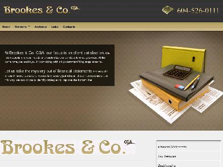 Brookes & Co (604-526-0111) - Website thumbnail - http://www.brookescga.com/