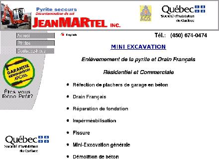 Jean Martel Inc (450-674-0474) - Website thumbnail - http://www.pyritesecours.com