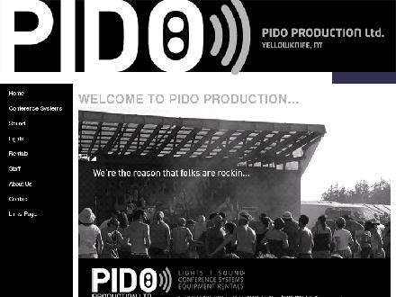 Pido Production Ltd (867-873-5458) - Website thumbnail - http://www.pidoproductions.com