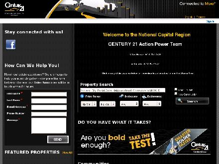Century 21 Action Power Team (613-837-3800) - Onglet de site Web - http://www.century21.ca/actionpowerteam