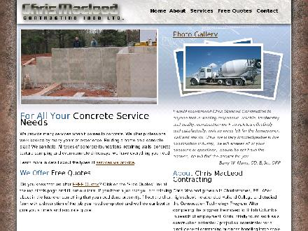 Chris MacLeod Contracting (902-940-3300) - Website thumbnail - http://chrismacleodcontracting.com