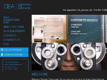 Downtown Eye Associates (416-901-2420) - Onglet de site Web - http://www.downtown-eye.ca