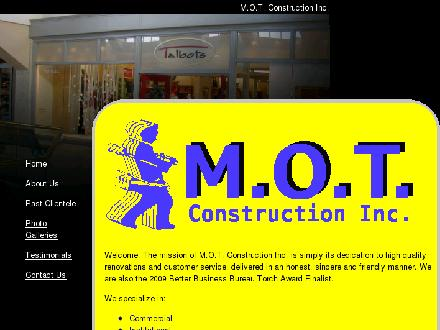 M O T Construction Inc (613-749-0209) - Onglet de site Web - http://www.motconstruction.com