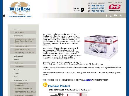 Westron Pumps Compressors Blowers (403-291-6777) - Onglet de site Web - http://www.gotpump.ca