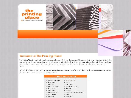 Printing Place The (709-726-2222) - Onglet de site Web - http://www.theprintingplace.ca