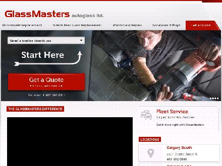GlassMasters Autoglass Ltd (780-401-9621) - Onglet de site Web - http://www.glassmastersautoglass.com