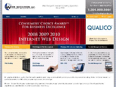 Web Wizards (204-989-5664) - Website thumbnail - http://www.webwizards.ca