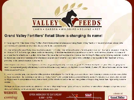 Valley Feeds (Div of Grand Valley Fortifiers) (519-621-5204) - Onglet de site Web - http://www.valleyfeeds.ca