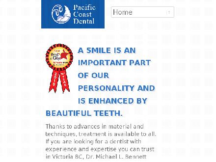 Pacific Coast Dental (250-383-0123) - Onglet de site Web - http://www.pacificcoastdental.com
