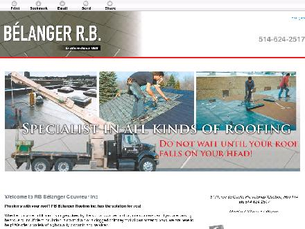 RB B&eacute;langer Couvreur Inc (514-624-2517) - Website thumbnail - http://belangercouvreur.com