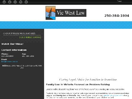 Vic West Law (250-384-1804) - Onglet de site Web - http://vicwestlaw.net/