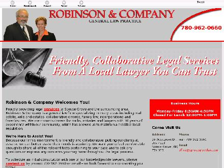 Robinson & Co (780-962-0660) - Website thumbnail - http://sprucegrovelaw.com