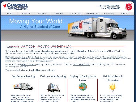 Campbell Moving Systems Inc (289-807-0081) - Website thumbnail - http://www.campbellmoving.ca