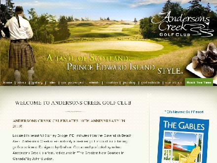 Andersons Creek Golf Club (902-886-2222) - Onglet de site Web - http://www.andersonscreek.com/index.php