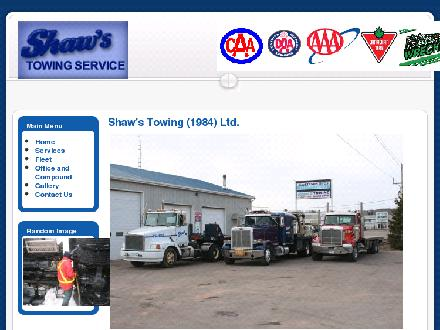 Shaw's Towing Service Ltd (1-866-280-0040) - Onglet de site Web - http://www.shawstowing.com