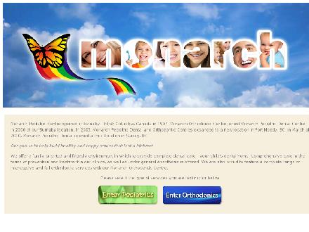 Monarch Pediatric Dental Centre (604-430-4980) - Onglet de site Web - http://www.monarchdentalcentre.com