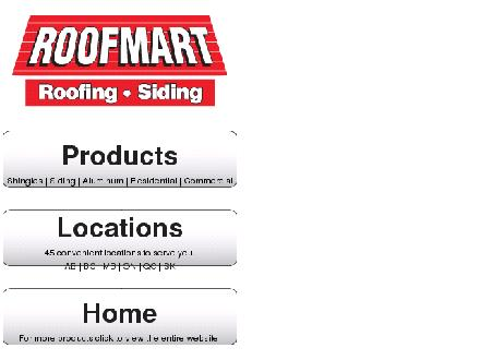 Roofmart (Ontario) Ltd (613-749-5981) - Website thumbnail - http://www.roofmart.ca