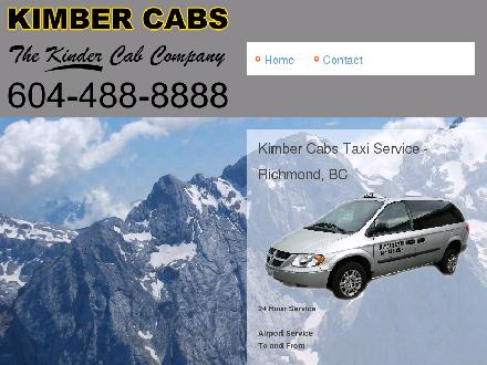 Kimber Cabs Taxi Service (604-278-2155) - Onglet de site Web - http://www.kimbercabs.com