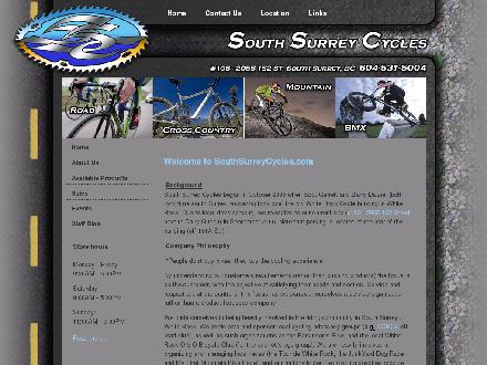 South Surrey Cycles (604-531-5004) - Website thumbnail - http://www.southsurreycycles.com