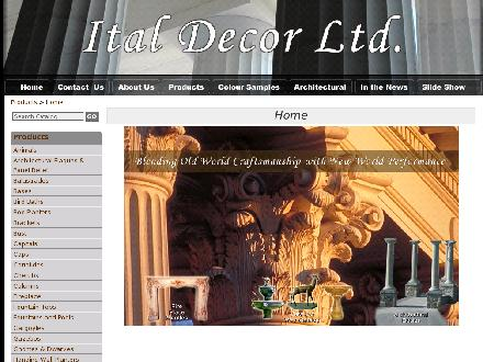 Ital Decor Co Ltd (604-291-7973) - Website thumbnail - http://www.italdecorltd.com