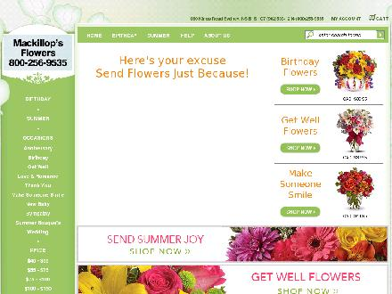 MacKillops Flowers (902-539-1214) - Website thumbnail - http://www.sydneyflowers.ca