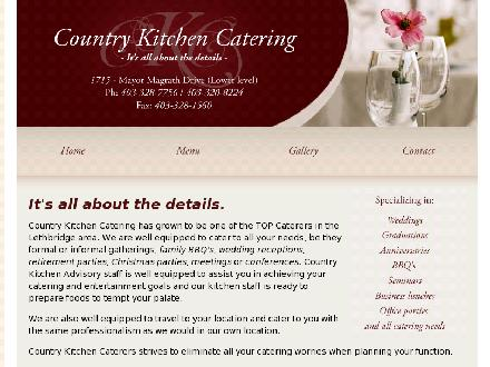 Country Kitchen Catering (403-328-7756) - Onglet de site Web - http://www.countrykitchencatering.ca