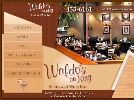 Waldo's On King Bistro & Wine Bar (519-433-6161) - Website thumbnail - http://www.waldos.on.ca