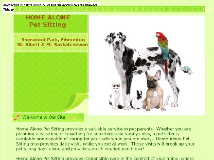 Home Alone Pet Sitting (780-893-8008) - Website thumbnail - http://www.homealonepetsitting.ca