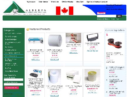 Alberta Business Supplies (780-484-5692) - Onglet de site Web - http://www.albertabusinesssupplies.com