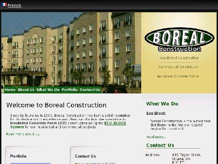 Boreal Construction (613-842-5228) - Onglet de site Web - http://www.borealconstruction.com