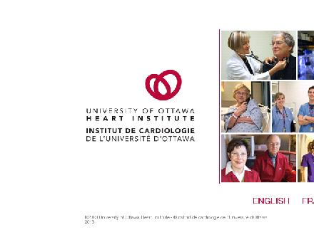 The Ottawa Hospital - Inquiries & PatientInformation (613-722-7000) - Onglet de site Web - http://www.ottawaheart.ca