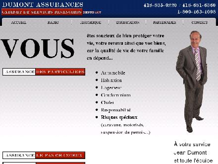 Dumont Assurances (418-681-6360) - Onglet de site Web - http://assurancesdumont.com