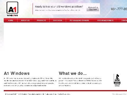 A-1 Window Mfg Ltd (604-777-8000) - Website thumbnail - http://www.a1windows.ca
