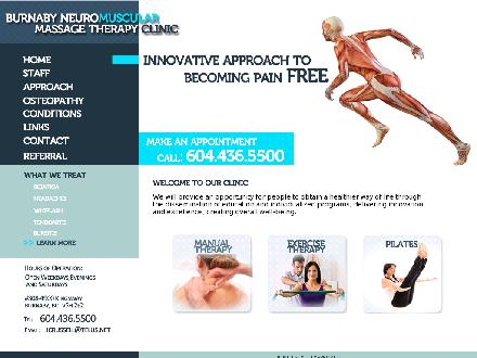 Burnaby Neuromuscular Massage Therapy Clinic (604-436-5500) - Website thumbnail - http://www.burnabyrehab.com