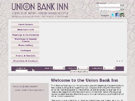 Union Bank Inn (780-423-3600) - Onglet de site Web - http://unionbankinn.com
