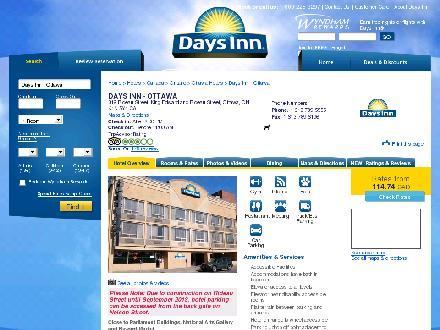 Days Inn Downtown (613-789-5555) - Onglet de site Web - http://www.DaysInnDowntownOttawa.com