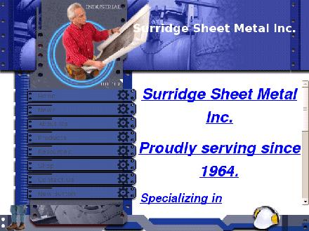 Surridge Sheet Metal (416-291-2633) - Onglet de site Web - http://www.surridgesheetmetal.ca