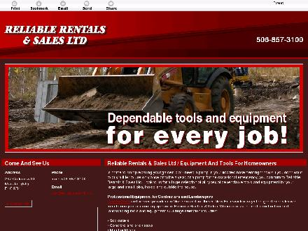 Reliable Rentals & Sales Ltd (506-857-3100) - Website thumbnail - http://reliablerentals.ca