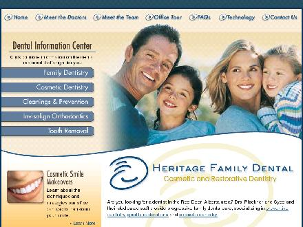 Heritage Family Dental (403-340-2273) - Onglet de site Web - http://www.heritagefamilydental.com