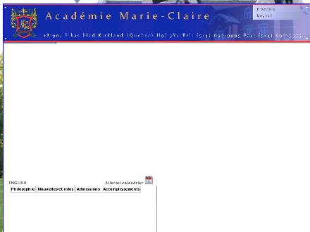 Acad&eacute;mie Marie-Claire (514-697-9995) - Onglet de site Web - http://www.academiemarie-claire.qc.ca