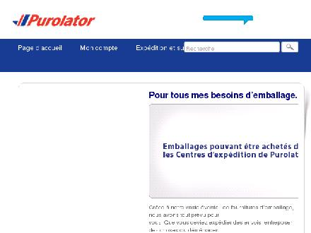 Purolator Inc (1-888-744-7123) - Onglet de site Web - http://www.purolator.com/fr/index.html