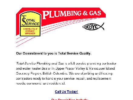 Total Service Quality Plumbing & Gas (604-850-3847) - Website thumbnail - http://www.totalservicequality.com/