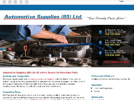 Automotive Supplies (85) Ltd (709-722-5550) - Website thumbnail - http://automotivesupplies85.ca/
