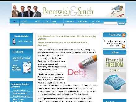 Bromwich & Smith (403-767-2592) - Website thumbnail - http://www.solvingdebt.ca