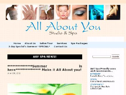 All About You Studio And (613-746-0600) - Website thumbnail - http://www.aayspa.com