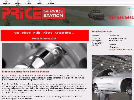 Price Service Station (819-986-3661) - Onglet de site Web - http://www.priceservicestation.ca
