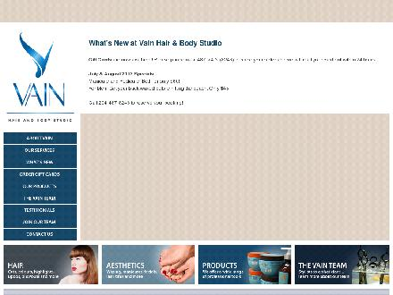 Vain Hair & Body Studio (204-487-8246) - Website thumbnail - http://www.vain.ca