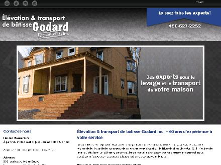 Elévation & Transport De Bâtisse Godard Inc (450-627-2252) - Website thumbnail - http://www.transportgodard.com