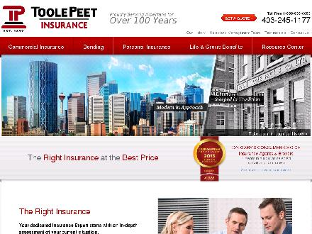 Toole Peet Insurance (403-245-1177) - Onglet de site Web - http://www.toolepeet.com