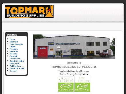 Topmar Building Supplies Ltd (506-452-1855) - Onglet de site Web - http://www.topmar.com